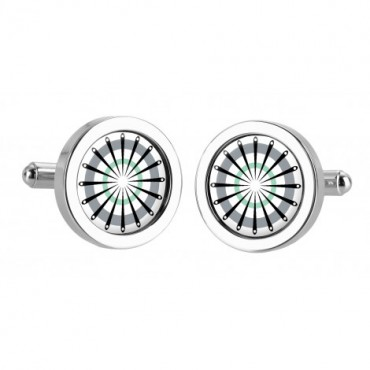 Chunky Dome Sonia Spencer Catherine Wheel Grey Cufflinks £30.00
