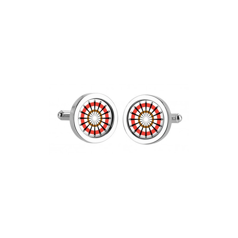 Chunky Dome Sonia Spencer Catherine Wheel Red Cufflinks £30.00