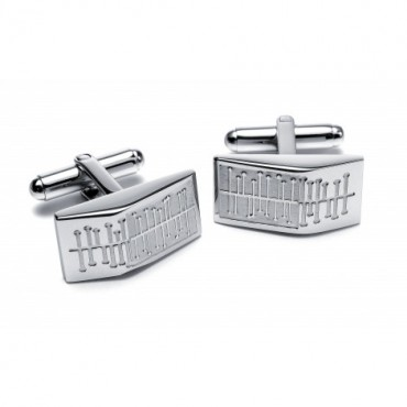 Steel Sonia Spencer Centipede Wedge Cufflinks £30.00