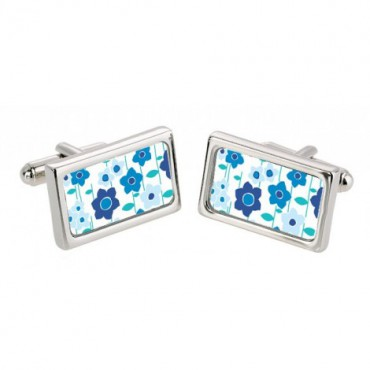 Chunky Dome Sonia Spencer Cool Blue Meadow Flowers Cufflinks £30.00