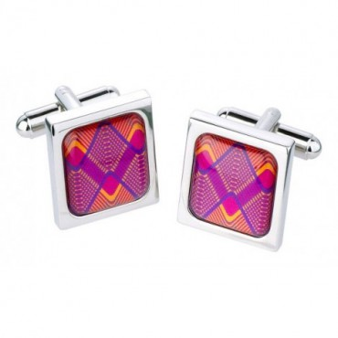 Contemporary Sonia Spencer Curved Waves Cufflinks £30.00