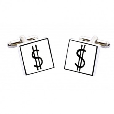 Bone China Hand Painted Sonia Spencer Dollar Signs Cufflinks £20.00