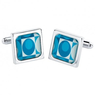 Chunky Dome Sonia Spencer Egg Teal Cufflinks £30.00