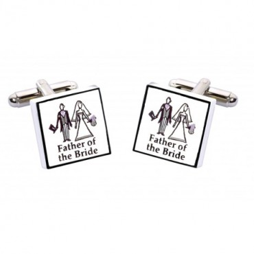 Father Of The Bride Contemporary Cufflinks