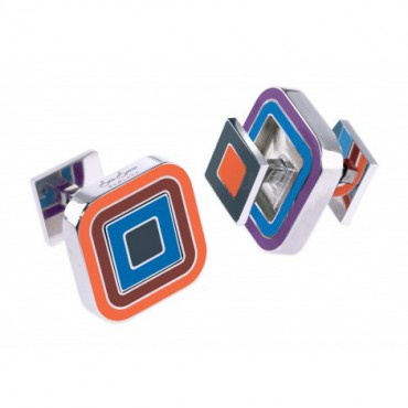 Reversible Sonia Spencer Fire Cracker Square Reversible Cufflinks £45.00