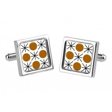 Chunky Dome Sonia Spencer Formica Dot Brown Cufflinks £30.00