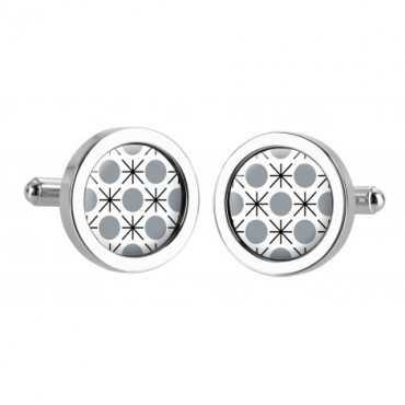 Chunky Dome Sonia Spencer Formica Dot Grey Cufflinks £30.00