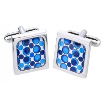 Contemporary Sonia Spencer Googly Circles Blue Cufflinks £30.00