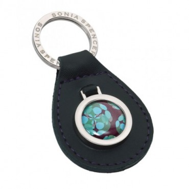Key Rings Sonia Spencer Green Leather Keyring £14.00