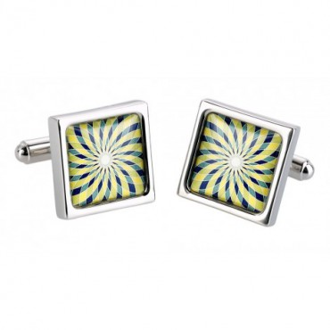 Contemporary Sonia Spencer Green Spiro Cufflinks £30.00