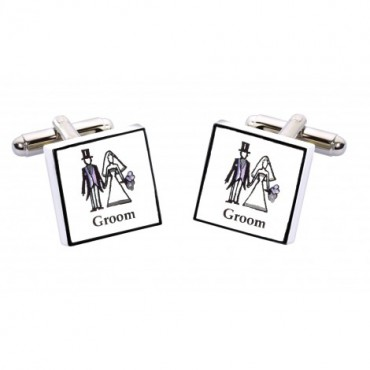 Wedding Sonia Spencer Groom Contemporary Cufflinks £20.00