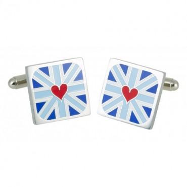 Contemporary Sonia Spencer Heart Detail Blue Cufflinks £25.00