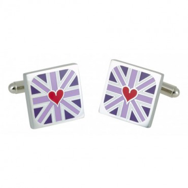 Contemporary Sonia Spencer Heart Detail Red Cufflinks £25.00
