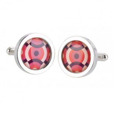 Chunky Dome Sonia Spencer Magenta Overlap Circles Cufflinks £30.00