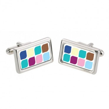 Chunky Dome Sonia Spencer Multi Leaf Cufflinks £30.00