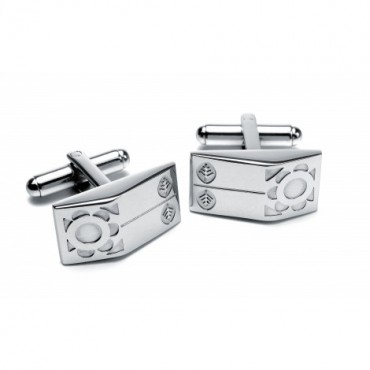 Steel Sonia Spencer Nordic Flower Wedge Cufflinks £30.00