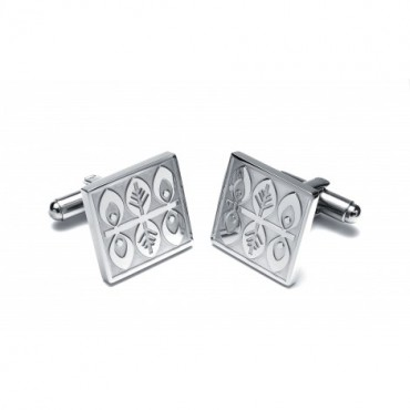 Steel Sonia Spencer Nordic Leaves Cufflinks £30.00