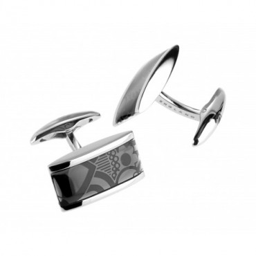 Contemporary Sonia Spencer Oblong Lozenge Grey Cufflinks £45.00