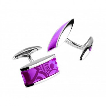Contemporary Sonia Spencer Oblong Lozenge Purple Cufflinks £45.00