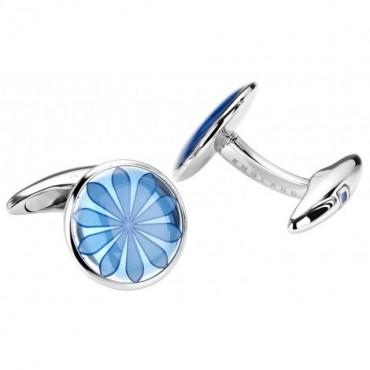 Contemporary Sonia Spencer Oval Disc Alaskan Blue Cufflinks £45.00