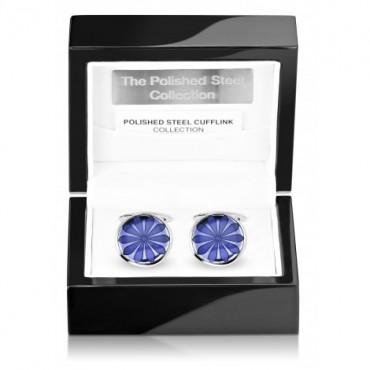 Contemporary Sonia Spencer Oval Disc Blue Cufflinks £45.00