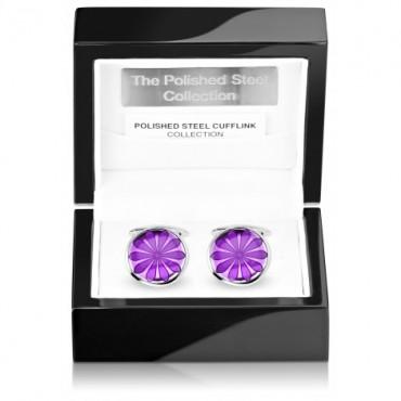 Contemporary Sonia Spencer Oval Disc Purple Cufflinks £45.00