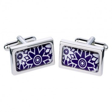 Chunky Dome Sonia Spencer Overlap Flowers Purple Cufflinks £30.00