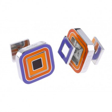Reversible Sonia Spencer Paprika Square Reversible Cufflinks £45.00