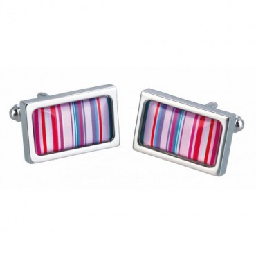 Chunky Dome Sonia Spencer Pink Barcode Cufflinks £30.00