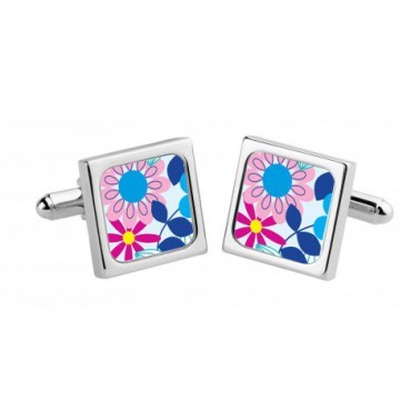 Chunky Dome Sonia Spencer Pink Candy Flowers Cufflinks £30.00