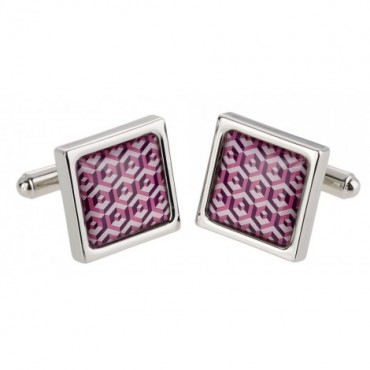 Contemporary Sonia Spencer Pink Scales Cufflinks £30.00
