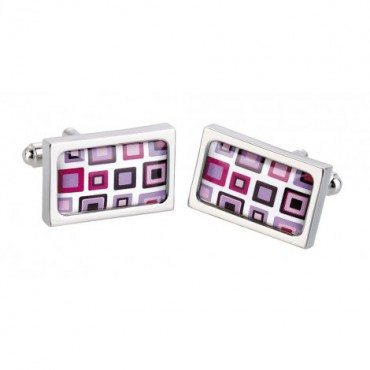 Contemporary Sonia Spencer Purple Block Cufflinks £30.00