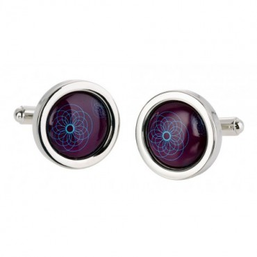 Contemporary Sonia Spencer Purple Spiro Cufflinks £30.00