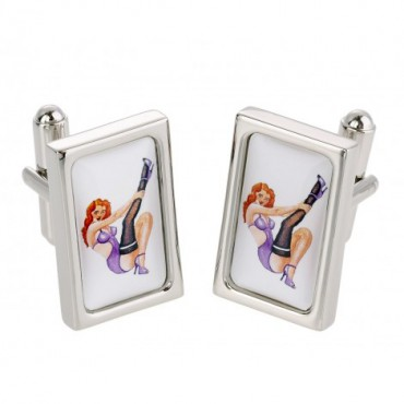 Chunky Dome Sonia Spencer Redhead Babe Cufflinks £30.00