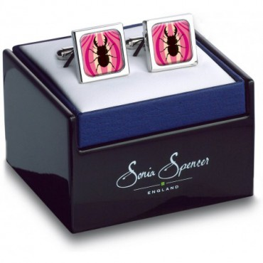 In Flight Sonia Spencer Silhouette Beetle Cufflinks £30.00