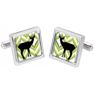 Fashion and Pattern Sonia Spencer Silhouette Stag Cufflinks £30.00
