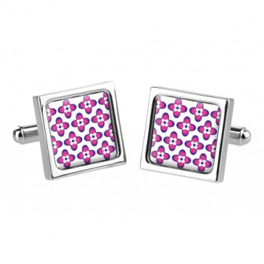 Chunky Dome Sonia Spencer Small Flower Pink Cufflinks £30.00