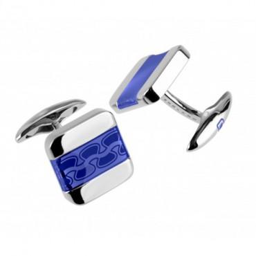 Contemporary Sonia Spencer Soft Square Blue Cufflinks £45.00
