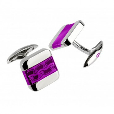 Contemporary Sonia Spencer Soft Square Purple Cufflinks £45.00