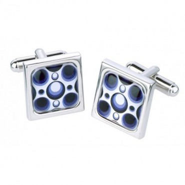 Contemporary Sonia Spencer Square Circles Mono Cufflinks £30.00