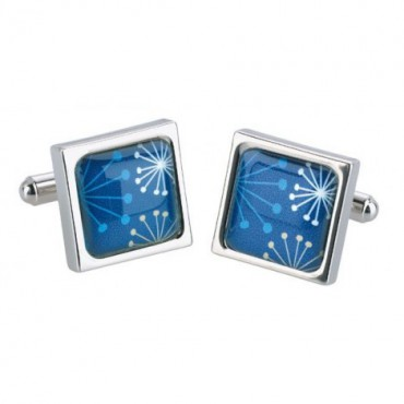 Others Sonia Spencer Starburst Teal Cufflinks £30.00