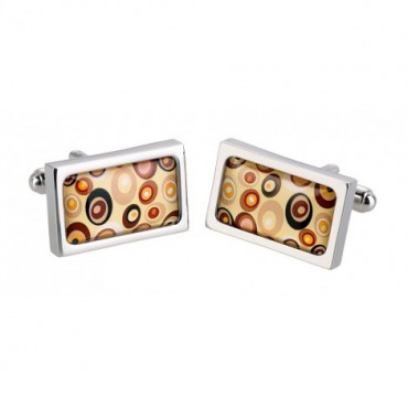 Contemporary Sonia Spencer Tan Swirl Cufflinks £30.00