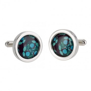 Chunky Dome Sonia Spencer Turquoise Liquid Cufflinks £30.00