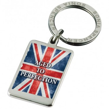 Key Rings Sonia Spencer Union Jack Keyring Aged To Perfection £20.00