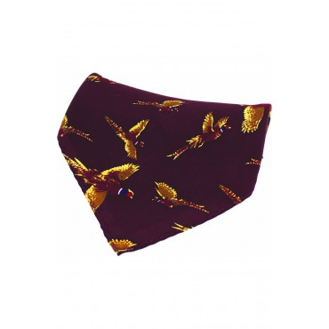 Country Handkerchiefs Soprano Ties Soprano Wine Flying Pheasant Silk Pocket Square £20.00