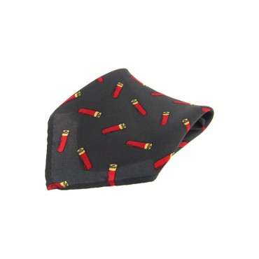 Country Handkerchiefs Soprano Ties Soprano Green Shotgun Cartridge Silk Pocket Square £20.00