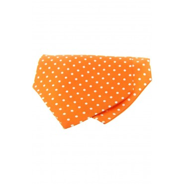 Self Tie Cravats Soprano Ties Soprano Silk Twill White Polka Dots On Orange Ground Cravat £40.00
