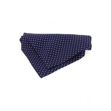 Self Tie Cravats Soprano Ties Soprano Silk Pin Dot Lilac And Navy Cravat £40.00