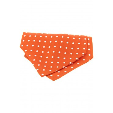 Self Tie Cravats Soprano Ties Soprano Silk Orange Polka Dot Cravat £40.00