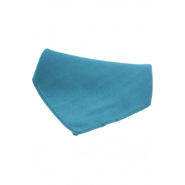 Wedding Handkerchiefs Soprano Ties Soprano Plain Teal Satin Silk Mens Silk Pocket Square £20.00